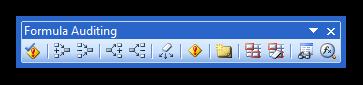 Formula Auditing Toolbar