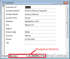 A Microsoft Access Form with Navigation Buttons is tedious when you have a lot of records. Find records faster with a dropdown in Microsoft Access forms