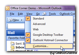 Outlook canned answers at the touch of a button