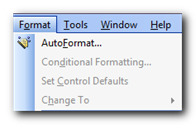 AutoFormat on the Format menu - Create and apply your own AutoFormat style to Microsoft Access forms