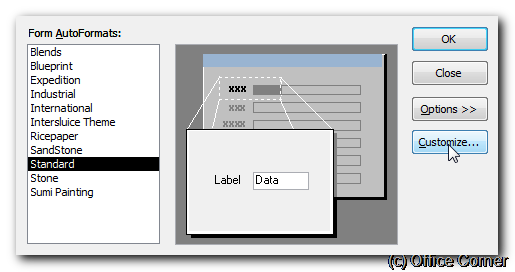 Create and apply your own AutoFormat style to Microsoft Access forms