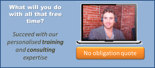 Joe Customer Service banner presents our no-obligation training quotes